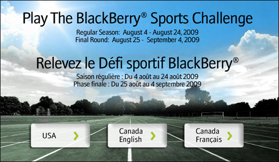 With With BlackBerry Sports Challenge!