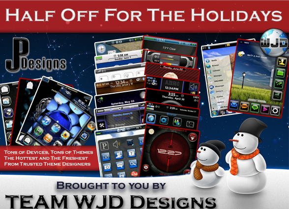 Half Off For the Holidays - Save 50% on BlackBerry Themes