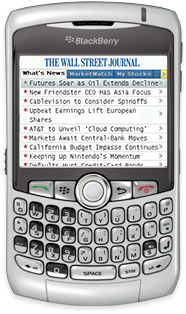 WSJ.com Mobile Reader for BlackBerry