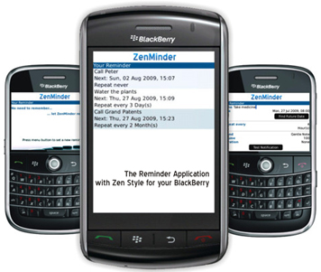 ZenMinder for BlackBerry Smartphones