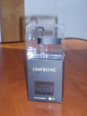 The Jawbone 'Suspended' in its Packaging