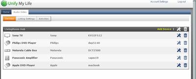 Website Showing my AV Device