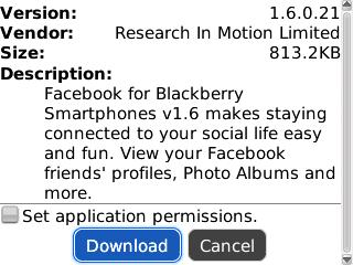 Facebook 1.6.0.21