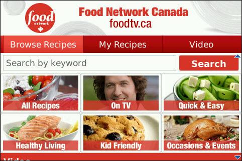 Food Network for BlackBerry