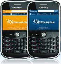 Dictionary.com app for BlackBerry