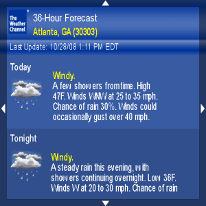 Free Weather Channel App for BlackBerry