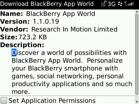 BlackBerry App World Updated