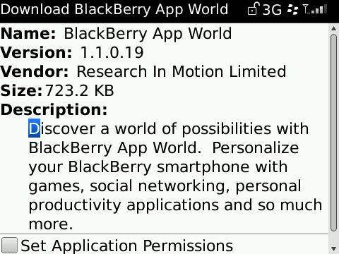 BlackBerry App World Updated