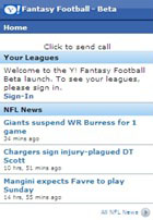 Yahoo! Fantasy Football Mobile Beta