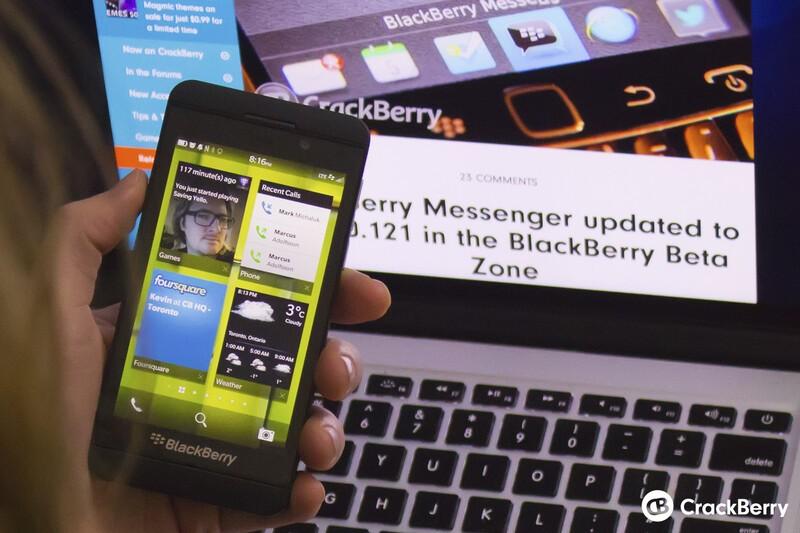 Active Frames on the BlackBerry Z10