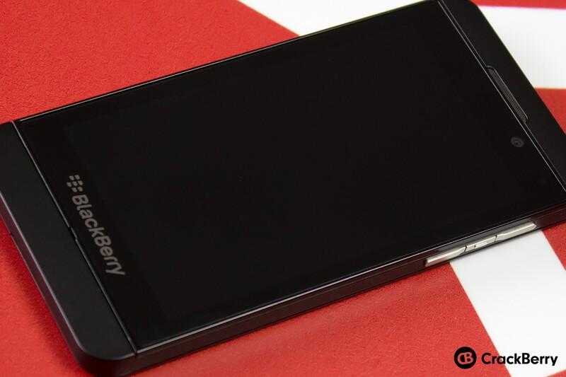 Front of BlackBerry Z10