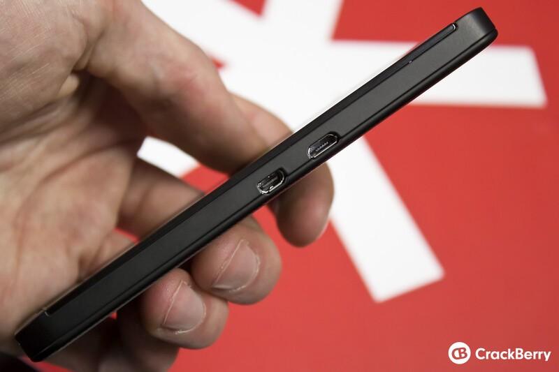Left side of BlackBerry Z10