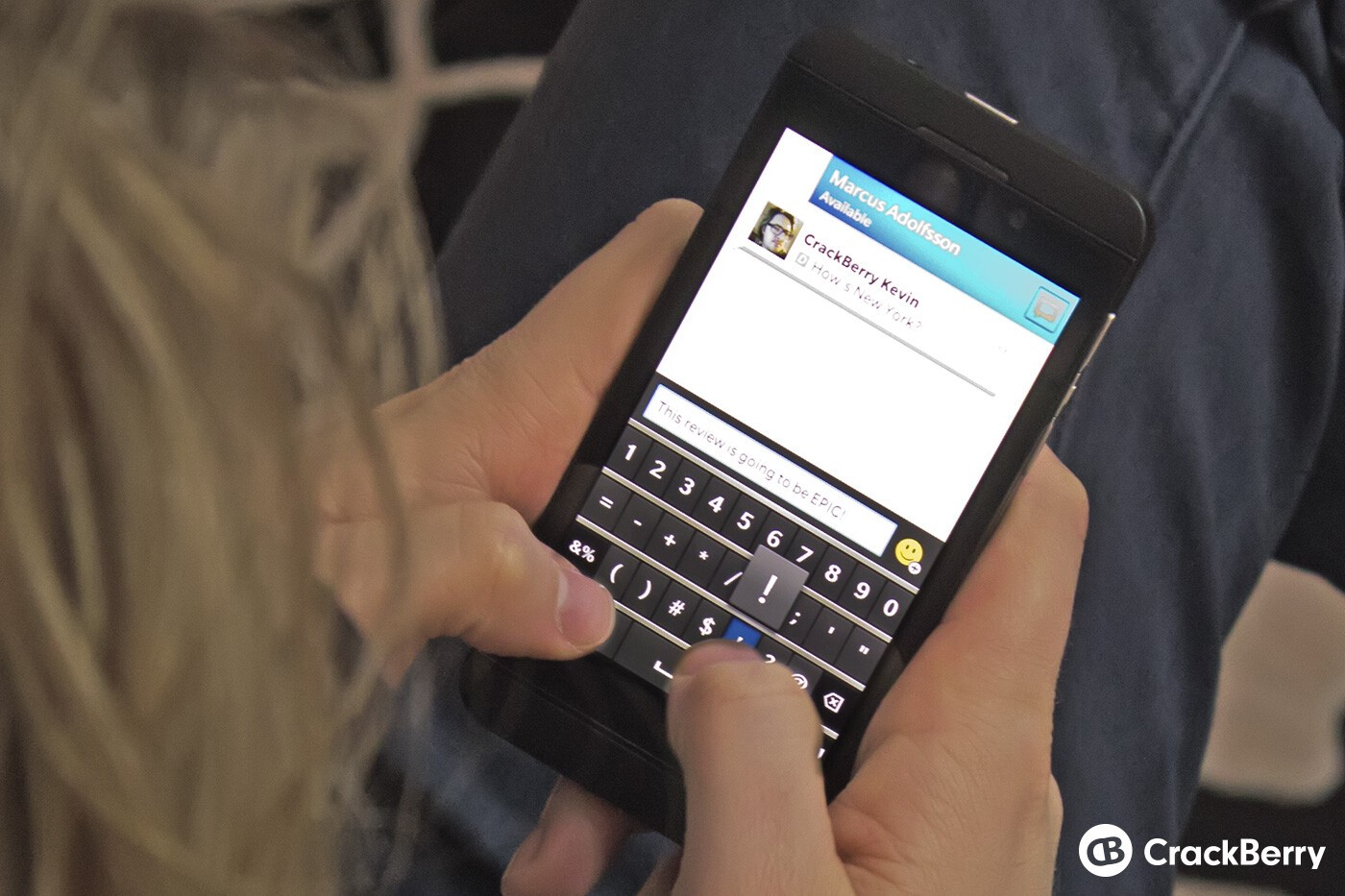 Typing on BlackBerry 10
