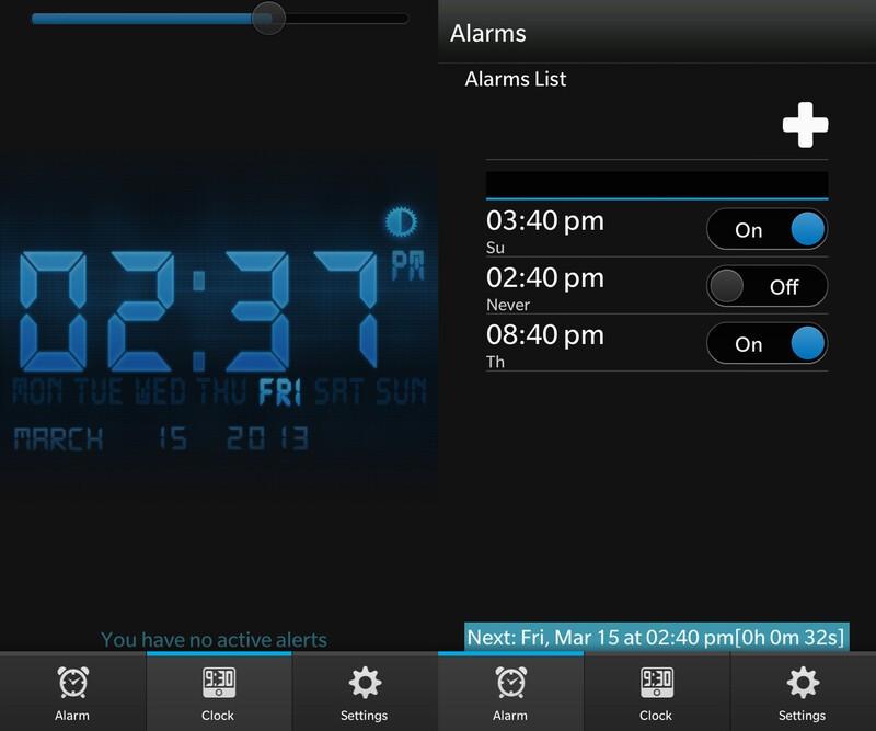 Alarm Clock for BlackBerry 10