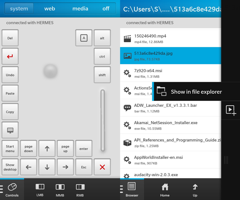 Luko LAN Remote for BlackBerry 10