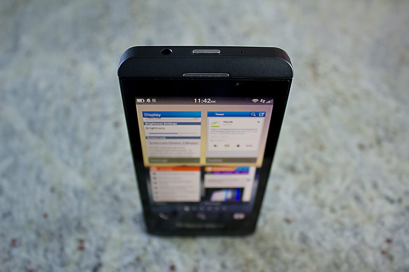 BlackBerry Z10 standing