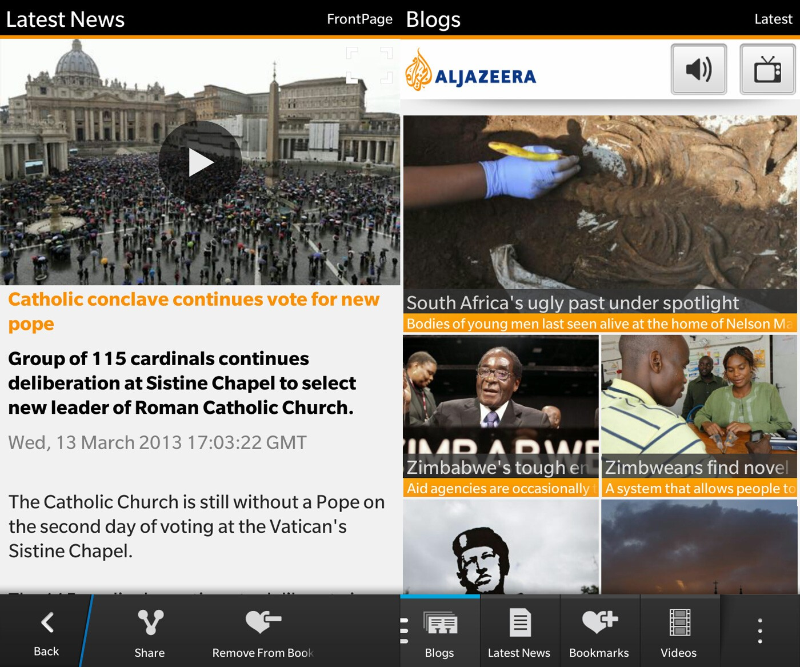 Al Jazeera for BlackBerry 10