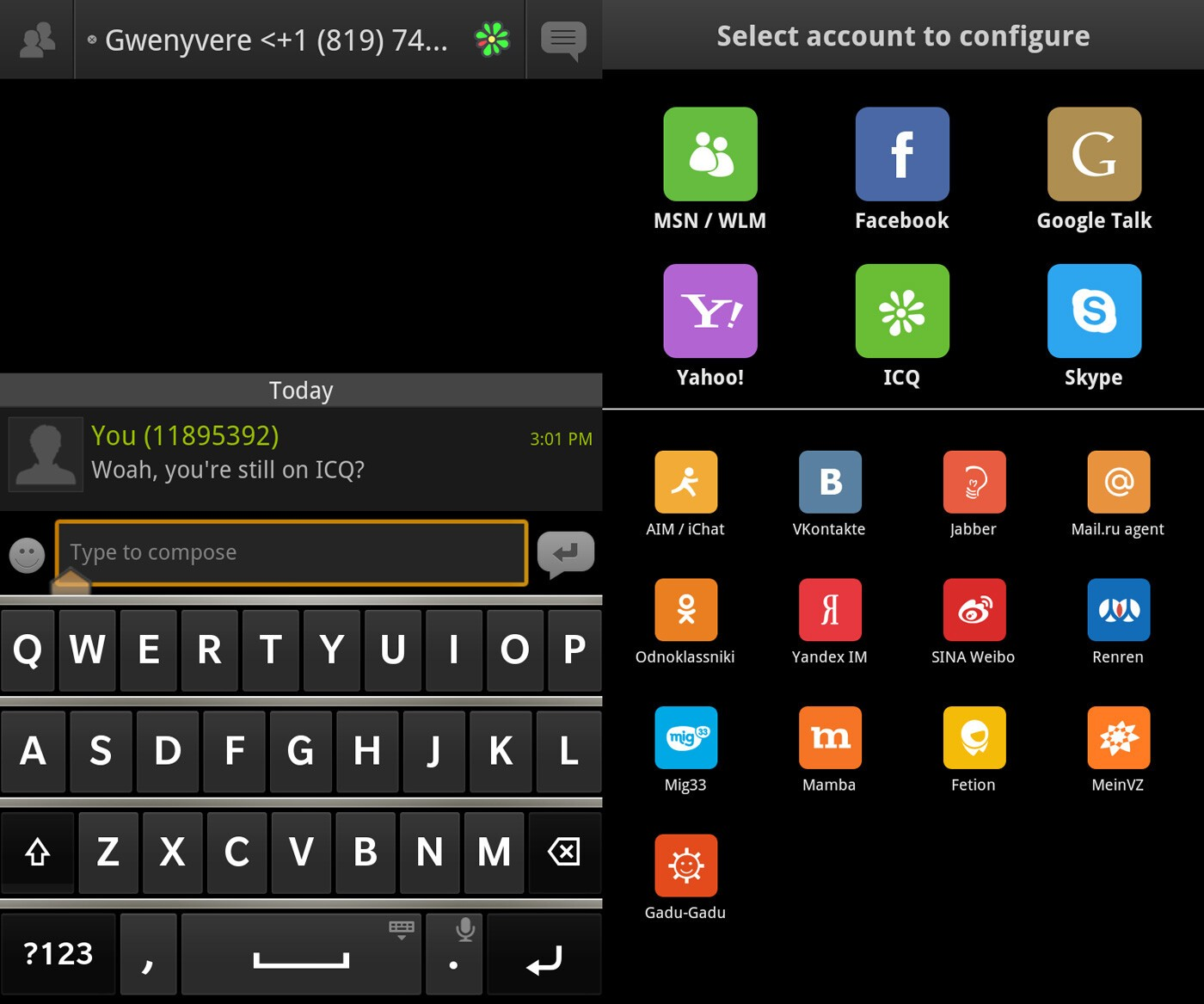 IM+ for BlackBerry 10