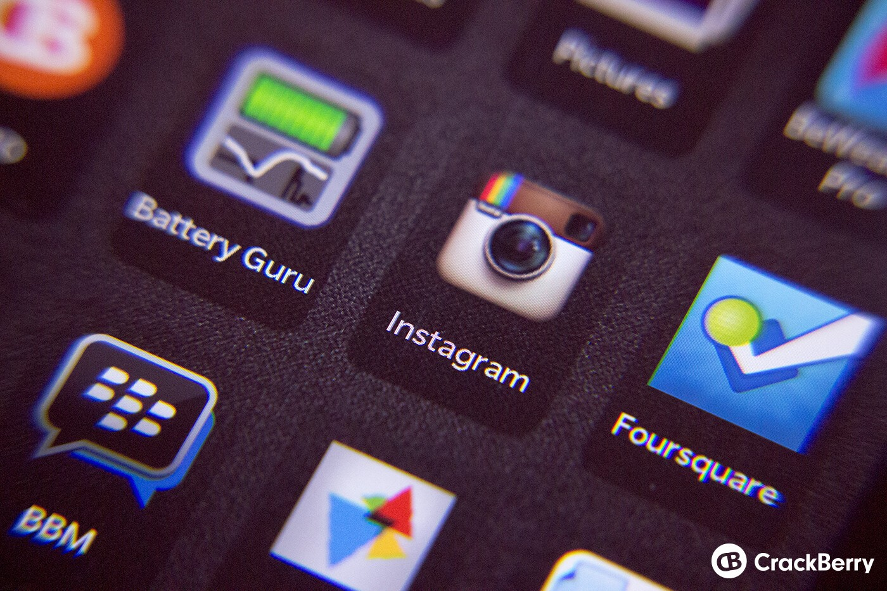Instagram on BlackBerry 10