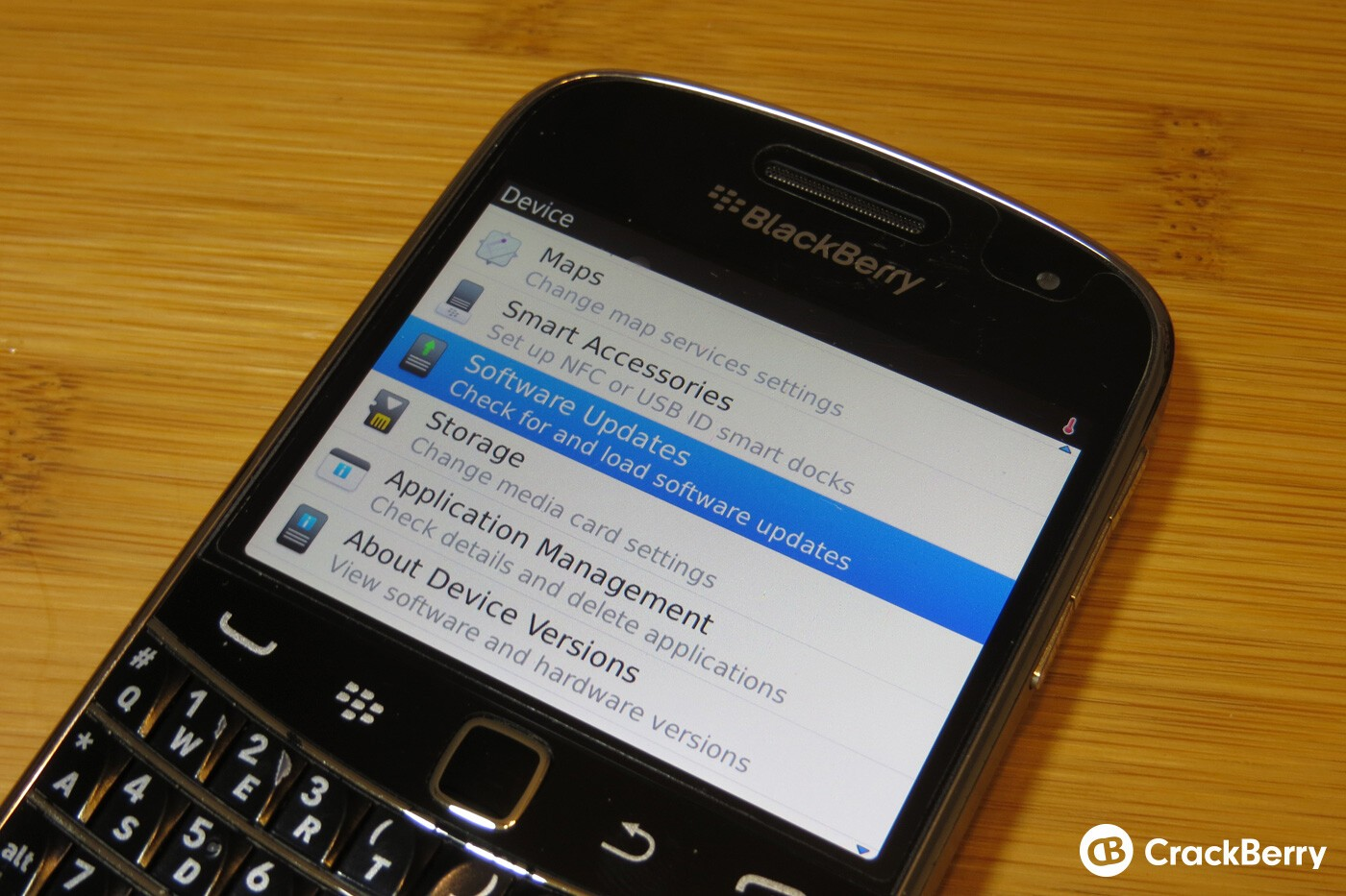 updating software on blackberry pearl