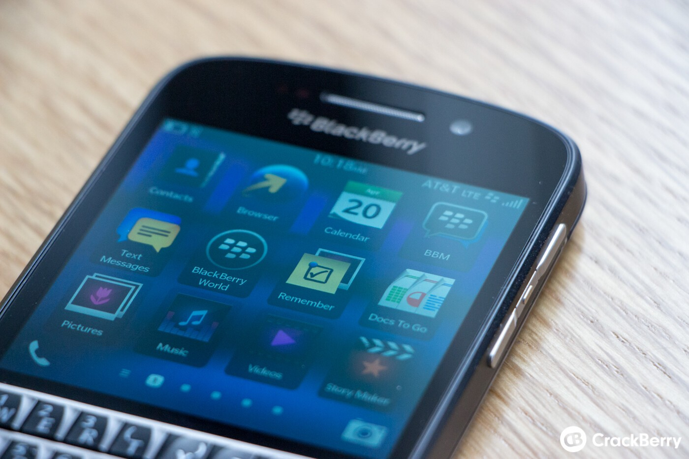 BlackBerry Q10 Display