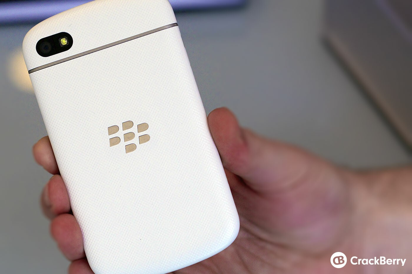 White BlackBerry Q10 Back
