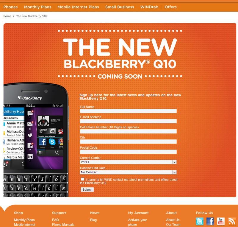 WIND Mobile Q10
