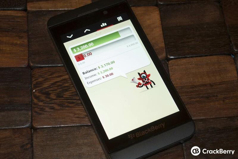 Toshl for BlackBerry 10