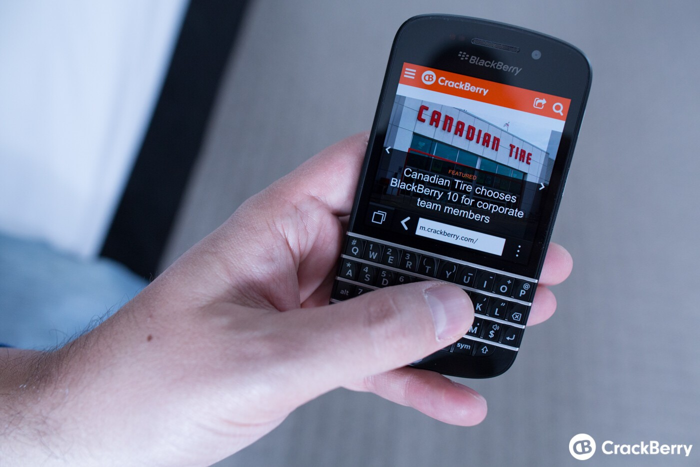Canadian Tire CTO, Eugene Roman, impressed with BlackBerry
