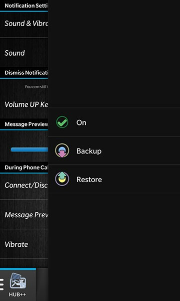 Hub++ backup/restore