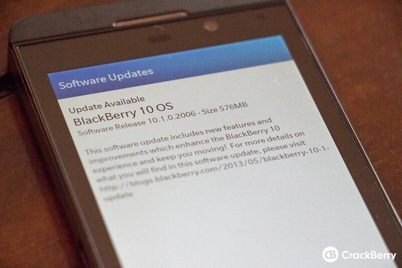 AT&T BlackBerry Z10 10.1 update