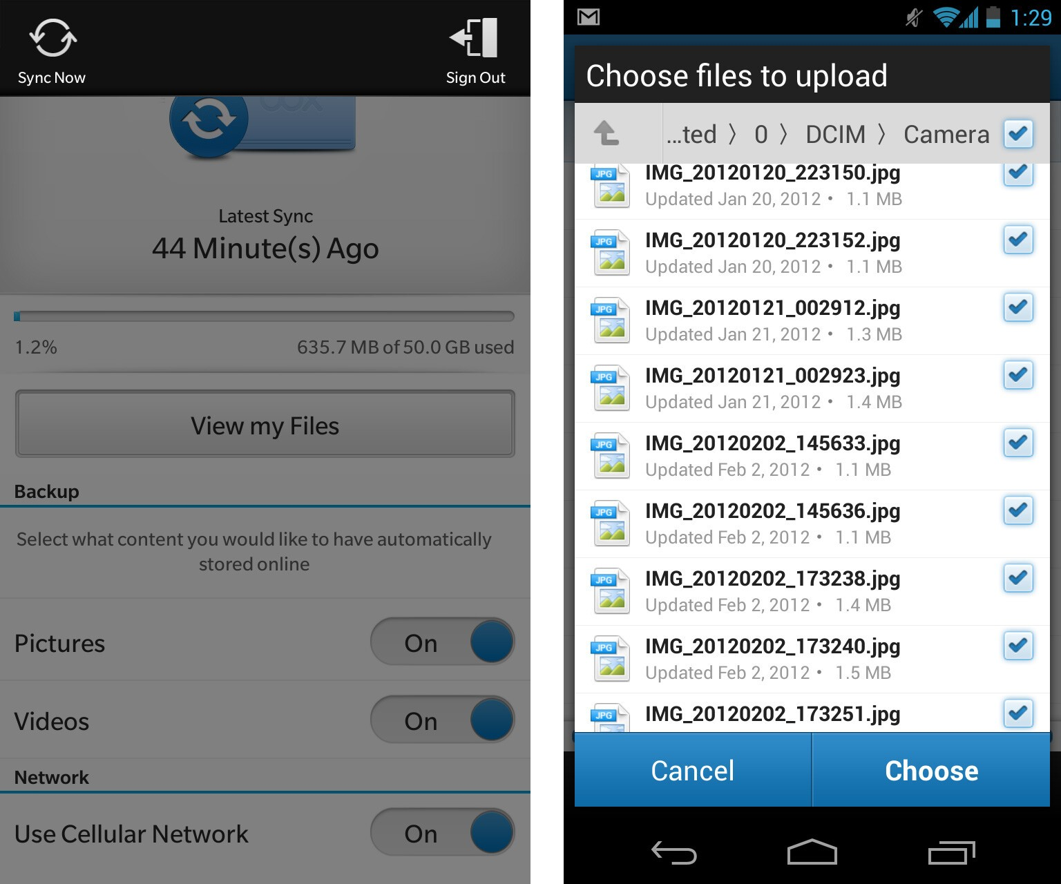 how to download pictures from android blackberry
