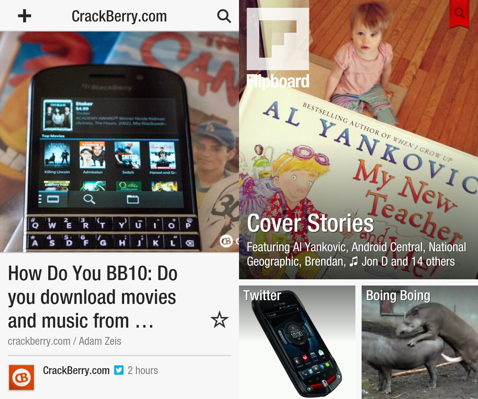 Flipboard on BlackBerry