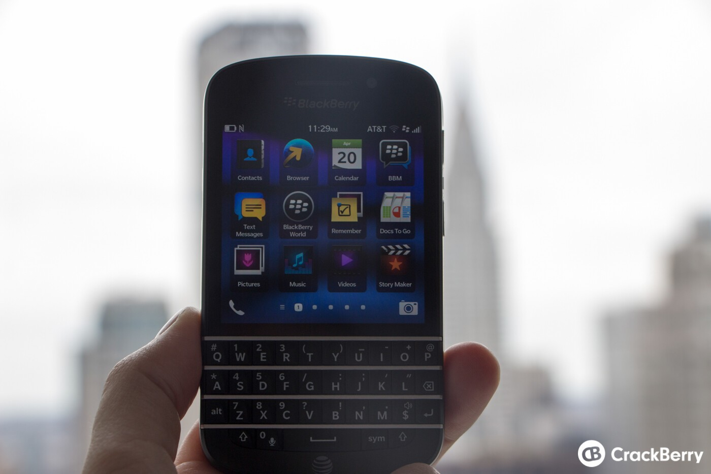 BlackBerry Q10 now available from AT&T   CrackBerry com