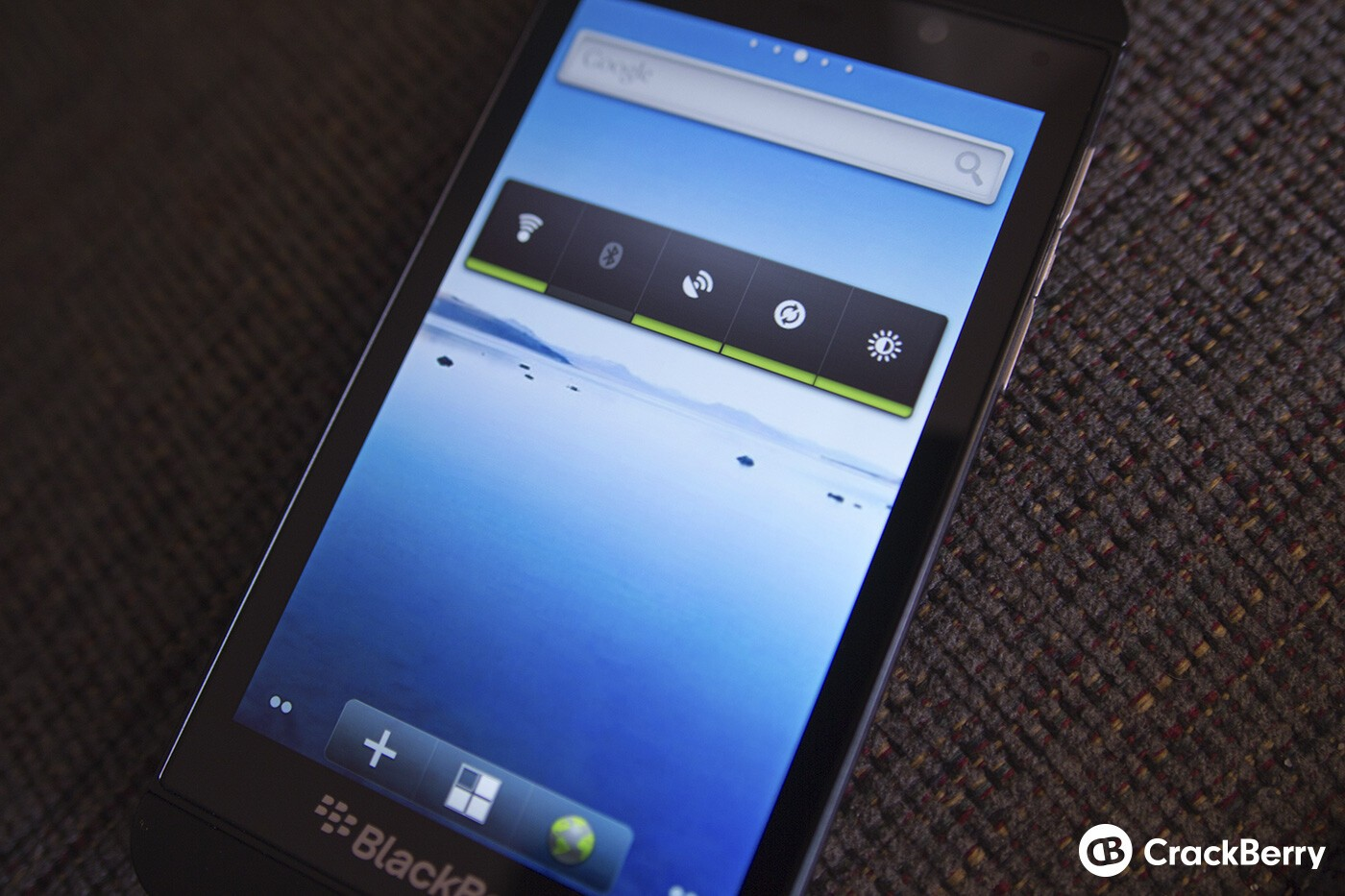 BlackBerry Z10 with Android launcher