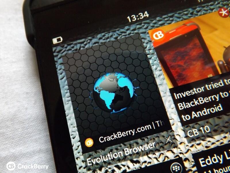 Evolution Browser for BlackBerry 10