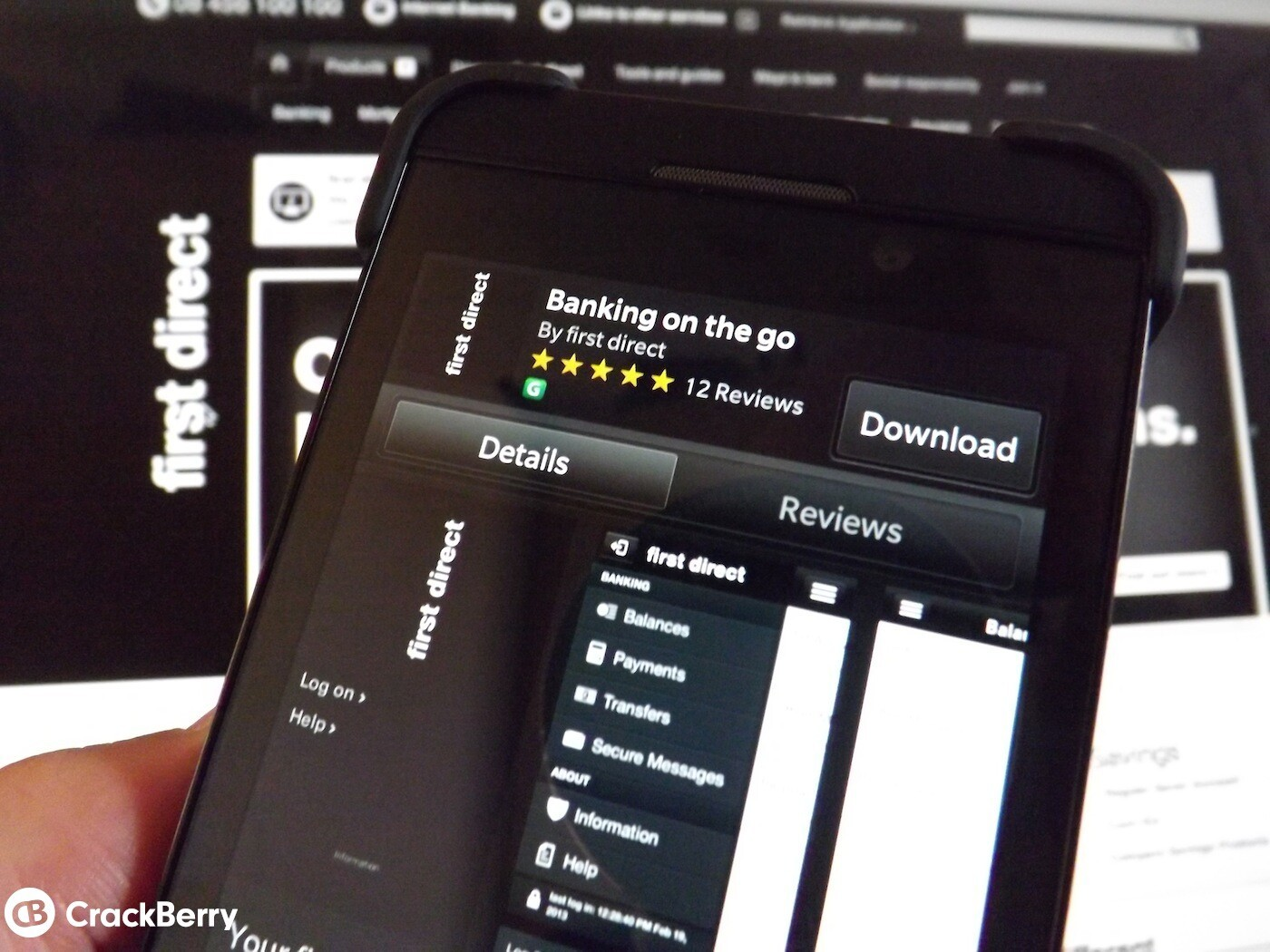 First Direct for BlackBerry 10