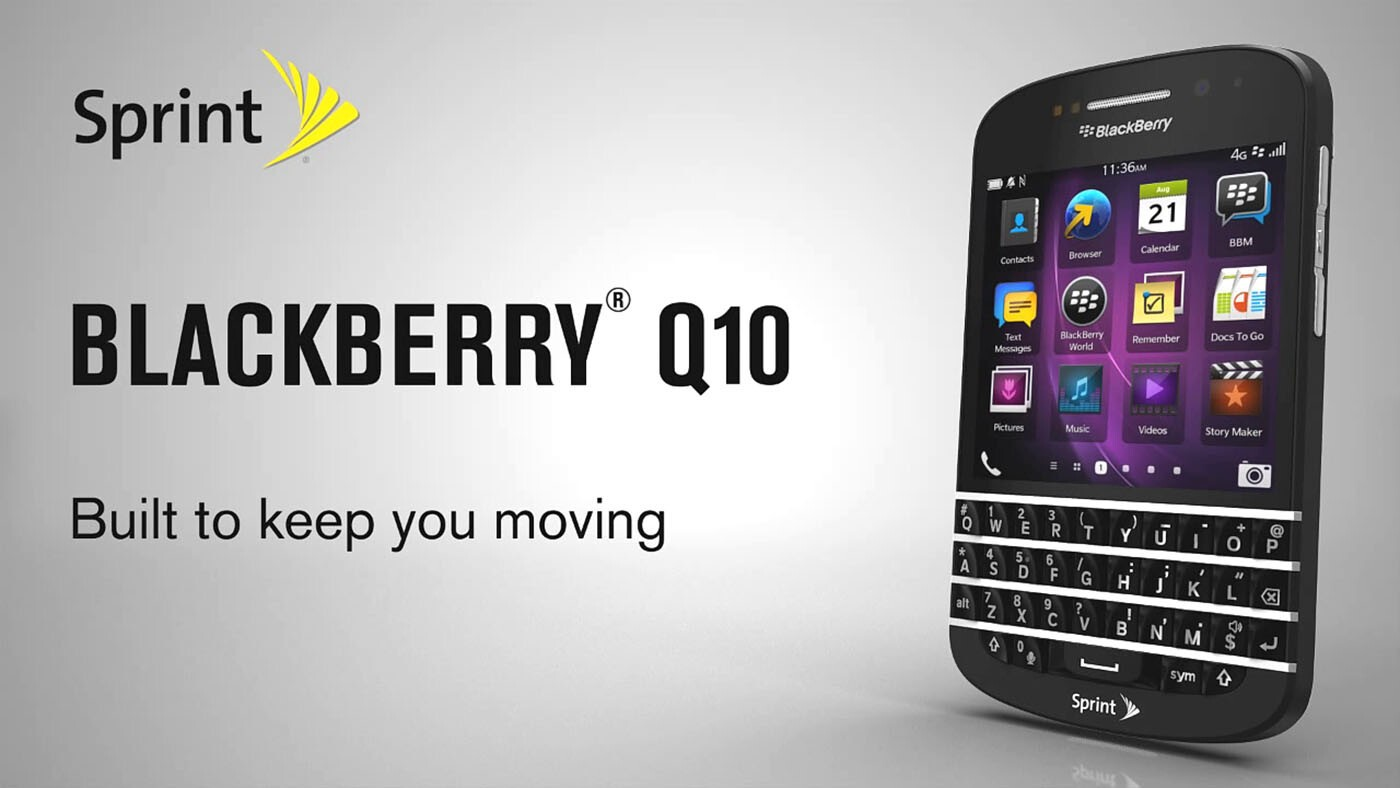 BlackBerry Q10 now available online from Sprint | CrackBerry com
