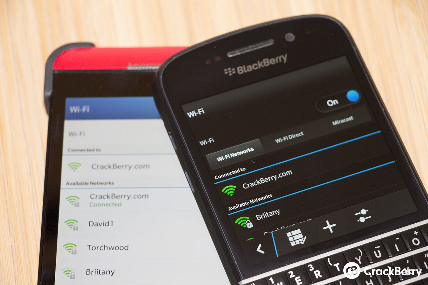 Miracast will not be available on the BlackBerry Z10, Wi-Fi