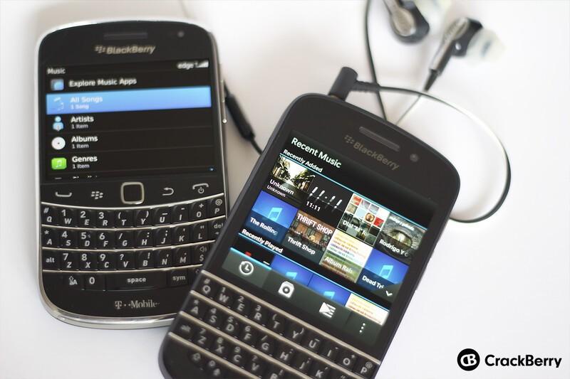 Music on BlackBerry 7 and BlackBerry 10