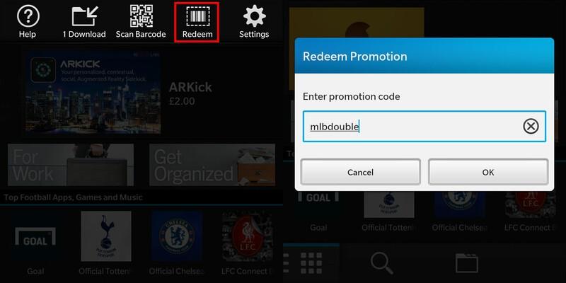 BlackBerry World MLB Promo Code