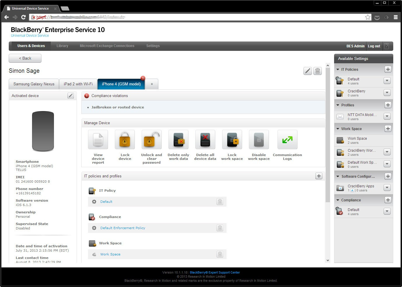 BlackBerry Secure Workspace