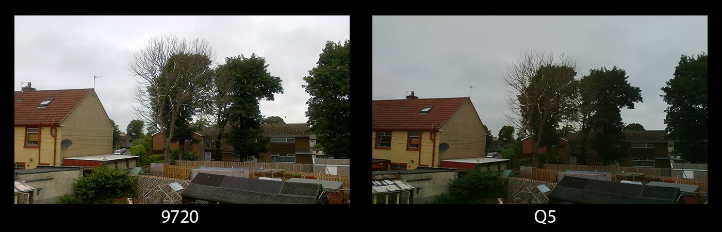 9720 / Q5 camera comparison outdoors