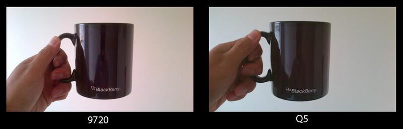9720 / Q5 camera comparison indoors