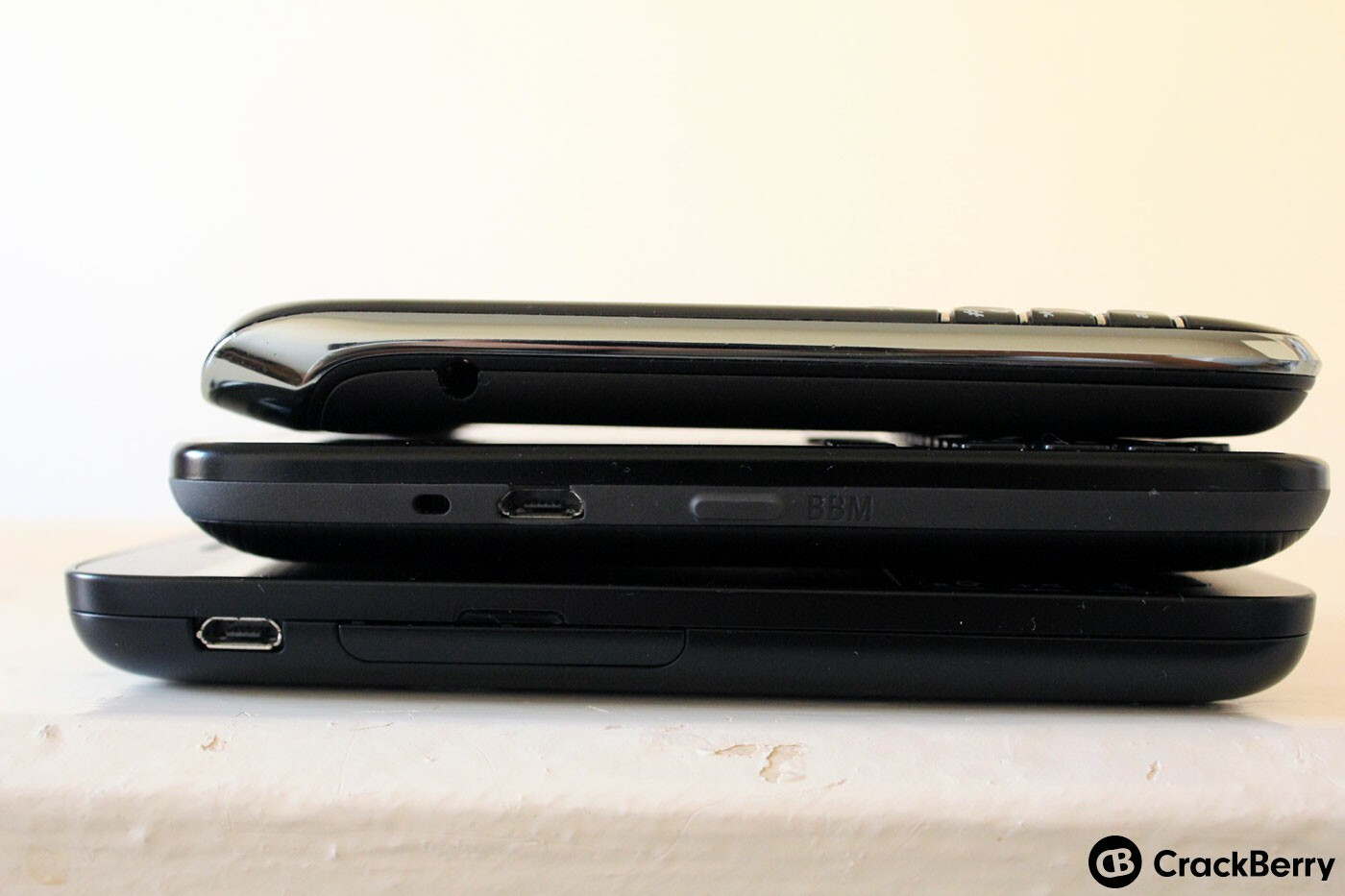 Size comparison - top to bottom: Bold 9790, 9720, Q5