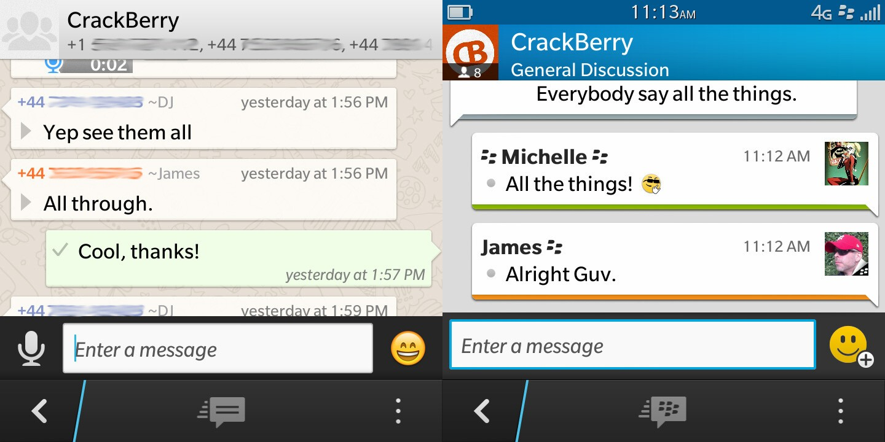 a2b36c8d4 WhatsApp vs. BBM - cross-platform messaging head-to-head ...
