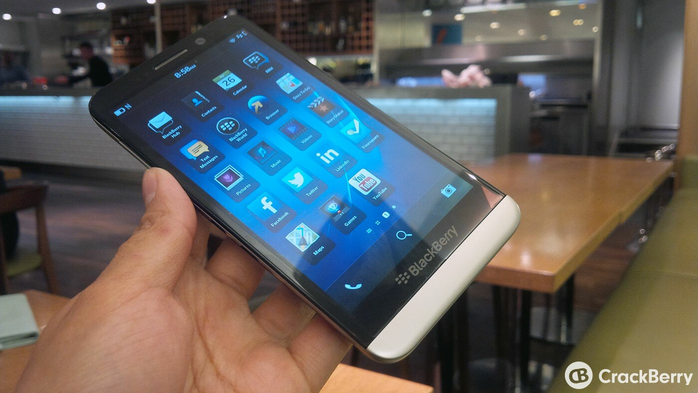 BlackBerry Z30 goes on sale in the UK today