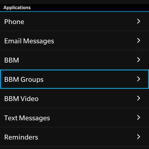 BBM Group Notifications