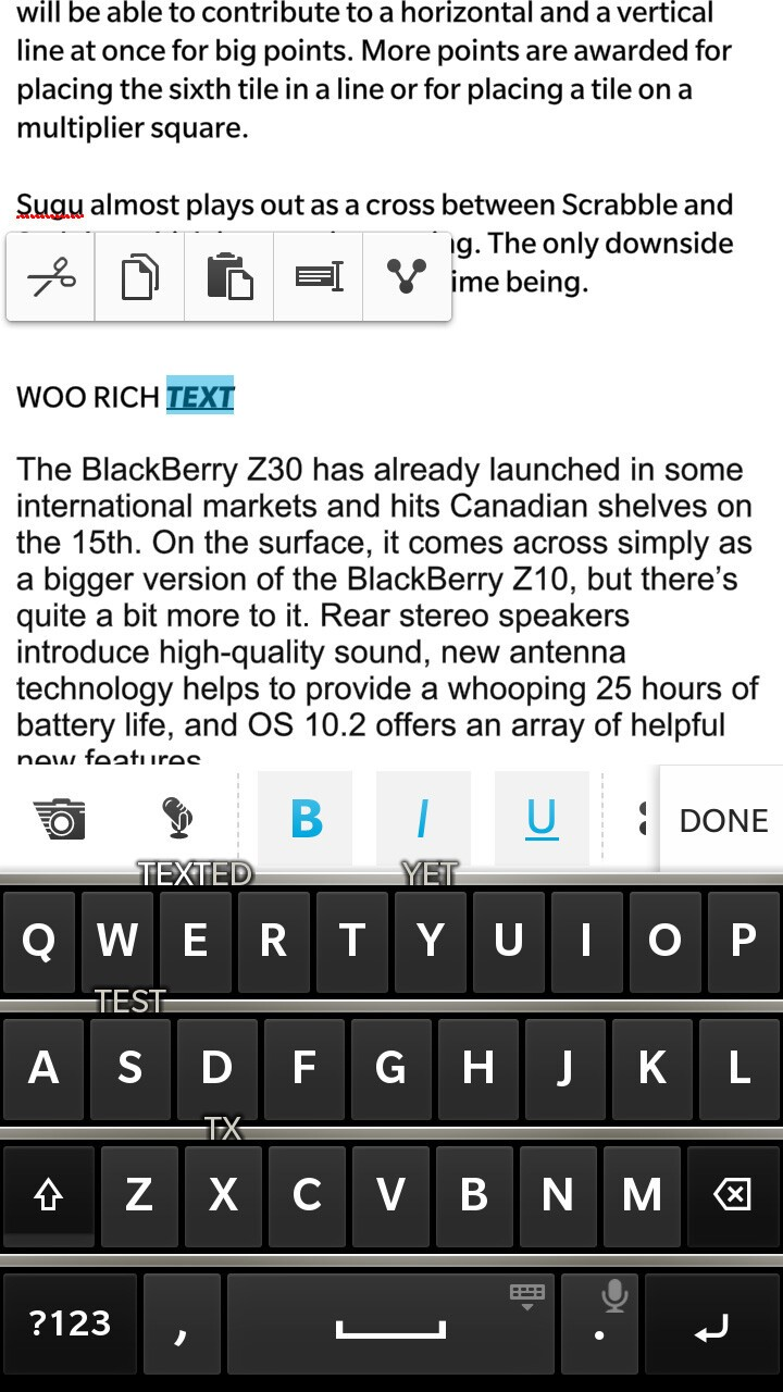 BlackBerry 10.2 Evernote