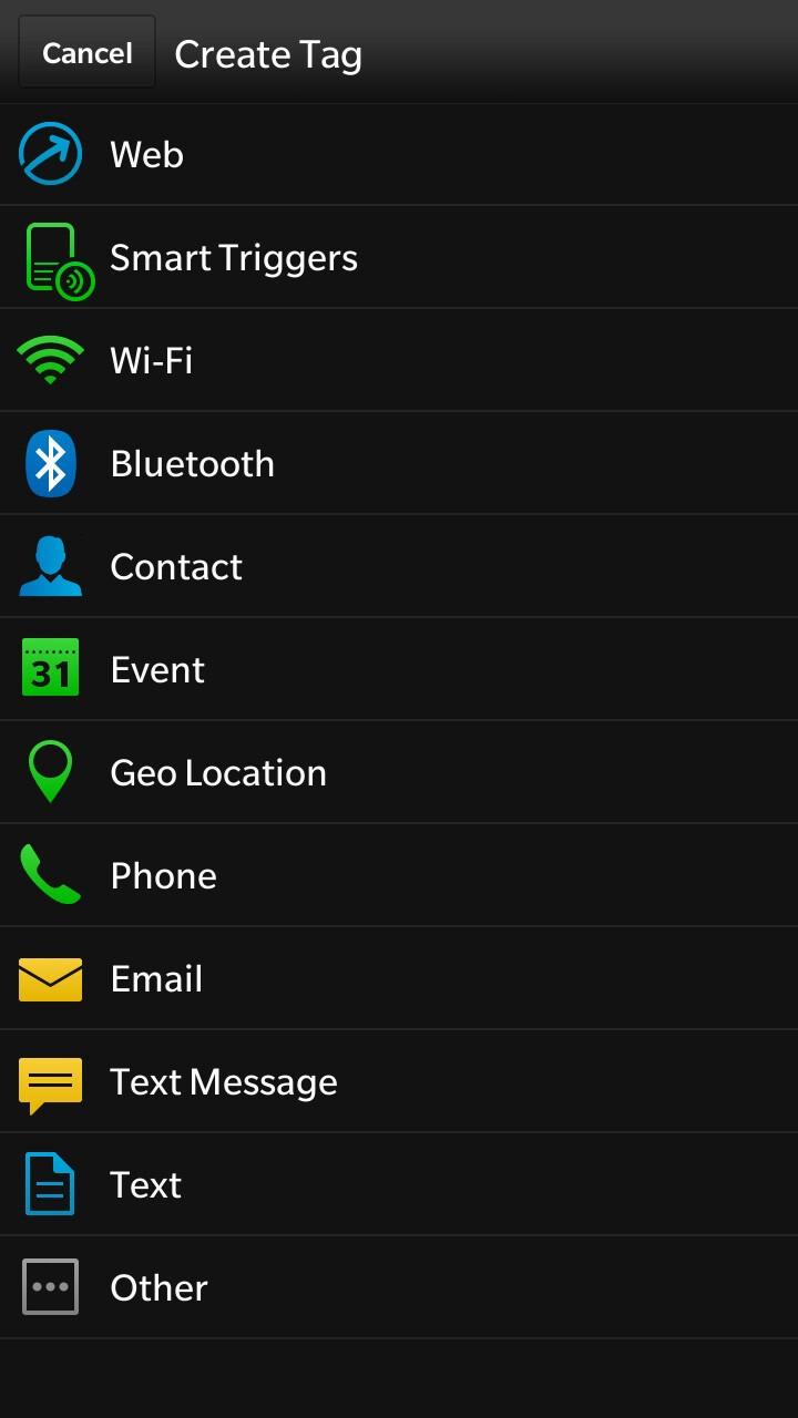 BlackBerry 10.2 Smart Tags